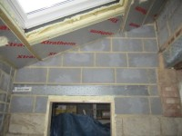 Velux and door to garage